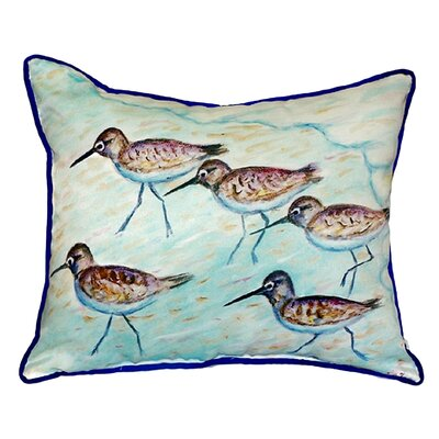 Sandpipers Indoor/Outdoor Throw Pillow Size: Small