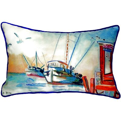 Shrimp Boat Indoor/Outdoor Lumbar Pillow Size: Small
