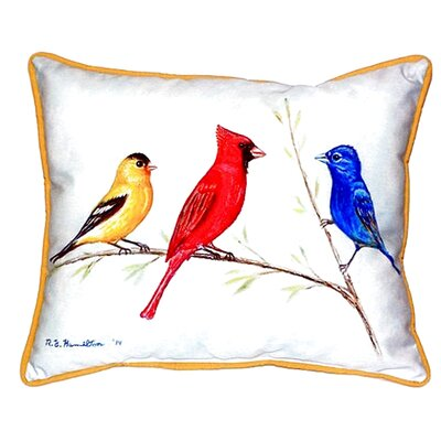 Three Birds Indoor/Outdoor Lumbar Pillow Size: Large