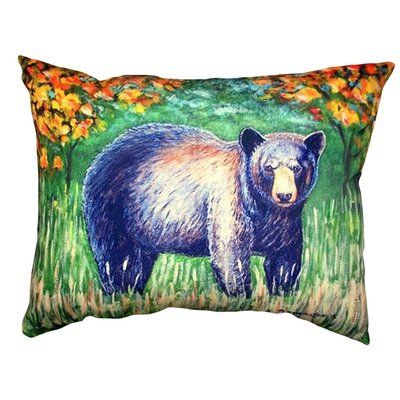 Bear Indoor/Outdoor Lumbar Pillow