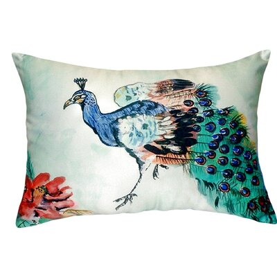 Peacock Indoor/Outdoor Lumbar Pillow