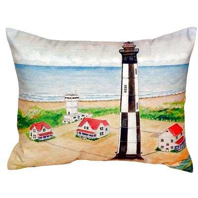 Cape Henry Lighthouse Indoor/Outdoor Lumbar Pillow