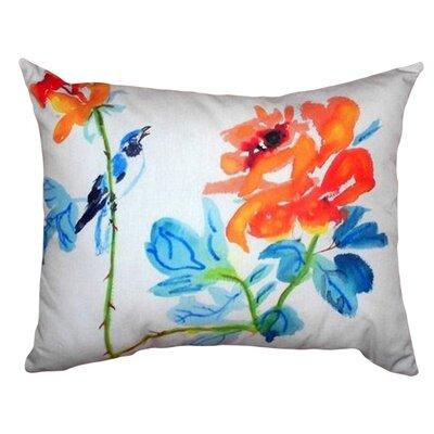 Bird & Roses Indoor/Outdoor Lumbar Pillow