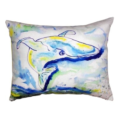 Whale Indoor/Outdoor Lumbar Pillow