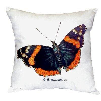 Admiral Butterfly Indoor/Outdoor Throw Pillow