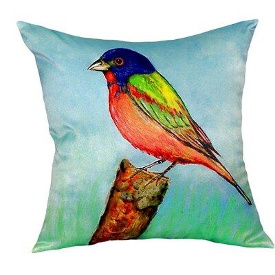 Painted Bunting Indoor/Outdoor Throw Pillow