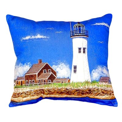 Scituate MA Lighthouse Indoor/Outdoor Lumbar Pillow