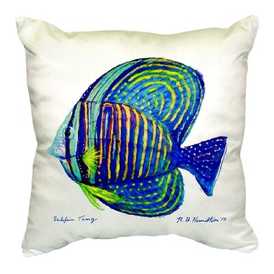 Sailfin Tang Indoor/Outdoor Throw Pillow