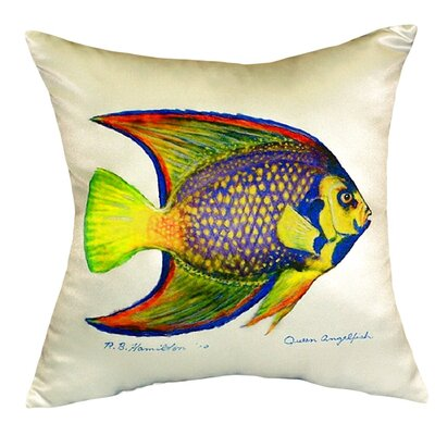 Queen Angelfish Indoor/Outdoor Throw Pillow