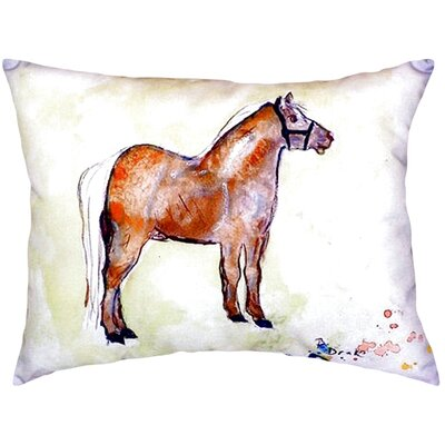 Shetland Pony Indoor/Outdoor Lumbar Pillow