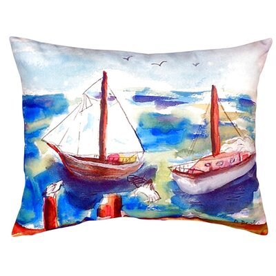 Two Sailboats Indoor/Outdoor Lumbar Pillow