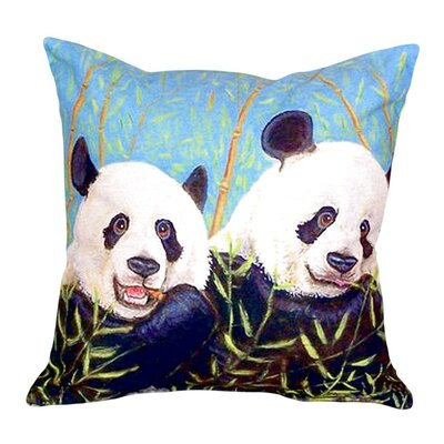 Pandas Indoor/Outdoor Throw Pillow