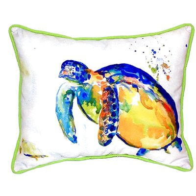 Sea Turtle II Indoor/Outdoor Lumbar Pillow Size: Large
