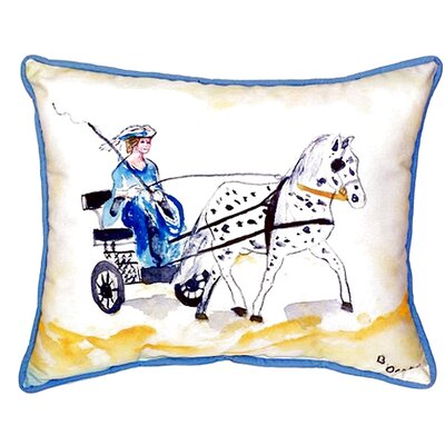 Carriage and Horse Indoor/Outdoor Lumbar Pillow Size: Large