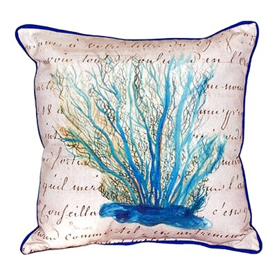 Coral Indoor/Outdoor Throw Pillow Size: Small