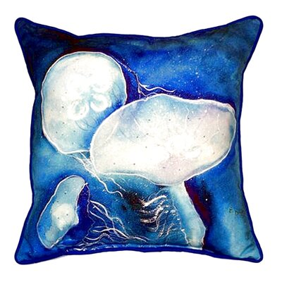 Jellyfish Indoor/Outdoor Throw Pillow