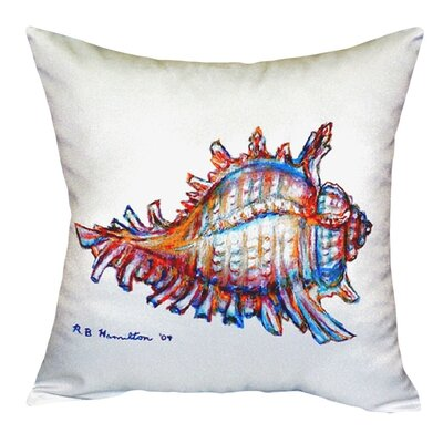 Conch Indoor/Outdoor Throw Pillow Color: White