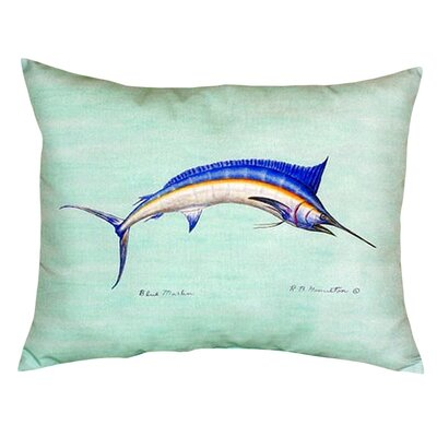 Marlin Indoor/Outdoor Lumbar Pillow Color: Teal