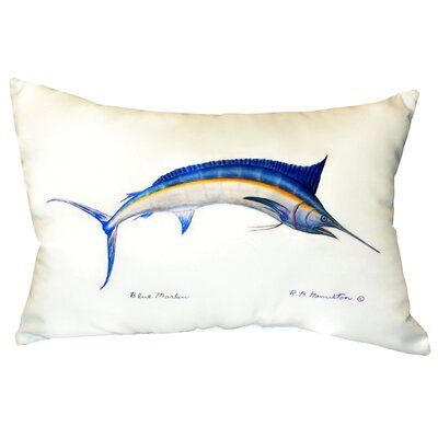 Marlin Indoor/Outdoor Lumbar Pillow Color: White