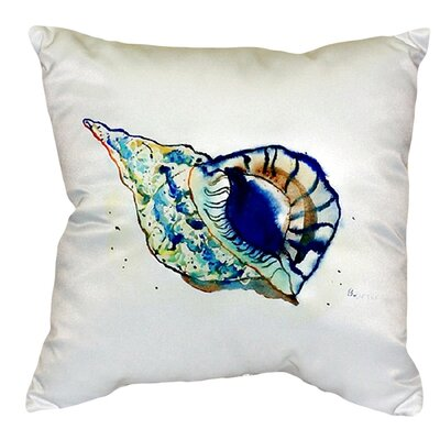 Shell Indoor/Outdoor Throw Pillow Color: White