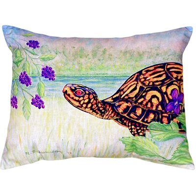 Turtle and Berries Indoor/Outdoor Lumbar Pillow