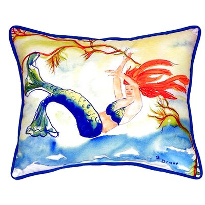 Resting Mermaid Indoor/Outdoor Lumbar Pillow Size: Large