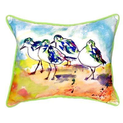 Sanderlings Indoor/Outdoor Lumbar Pillow Size: Small