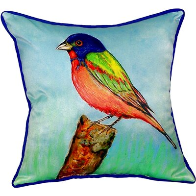 Painted Bunting Indoor/Outdoor Throw Pillow Size: Small