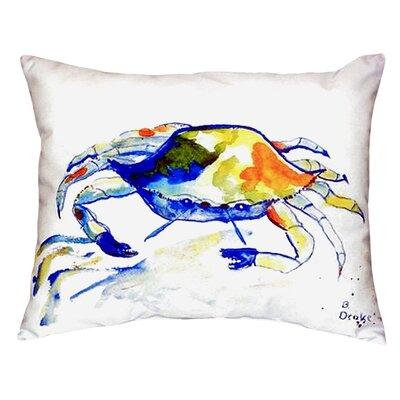 Crab Indoor/Outdoor Lumbar Pillow