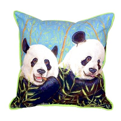 Pandas Indoor/Outdoor Throw Pillow Size: Small