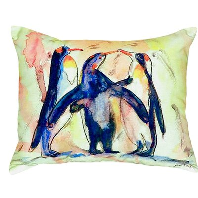 Penguins Indoor/Outdoor Lumbar Pillow