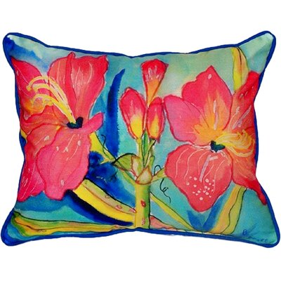 Amaryllis Indoor/Outdoor Lumbar Pillow Size: Large