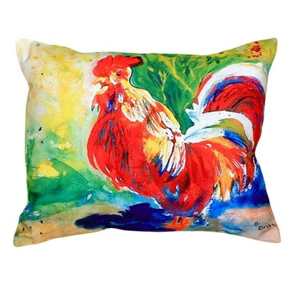 Rooster Indoor/Outdoor Lumbar Pillow