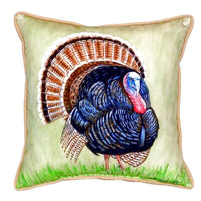Wild Turkey Indoor/Outdoor Throw Pillow Size: Small