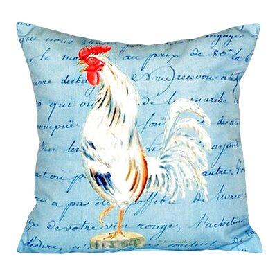 Rooster Script Indoor/Outdoor Throw Pillow