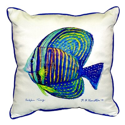 Sailfin Tang Indoor/Outdoor Throw Pillow Size: Small