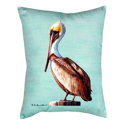 Pelican Indoor/Outdoor Lumbar Pillow Color: Teal