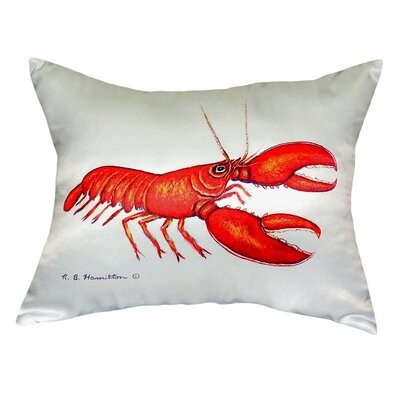 Lobster Indoor/Outdoor Lumbar Pillow