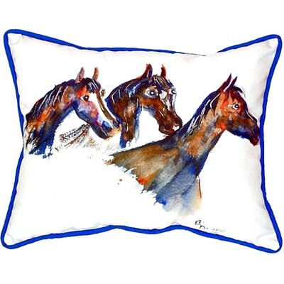 Three Horses Indoor/Outdoor Lumbar Pillow Size: Small