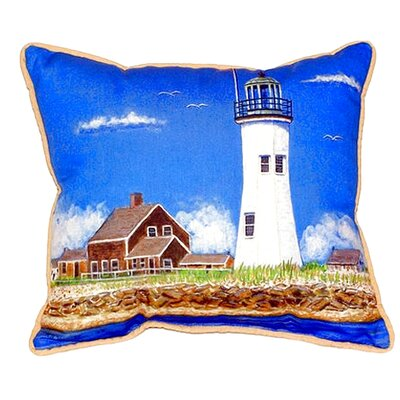 Scituate MA Lighthouse Indoor/Outdoor Lumbar Pillow Size: Large