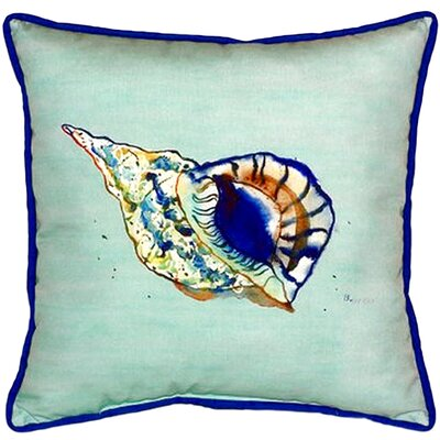 Shell Indoor/Outdoor Throw Pillow Color: Teal