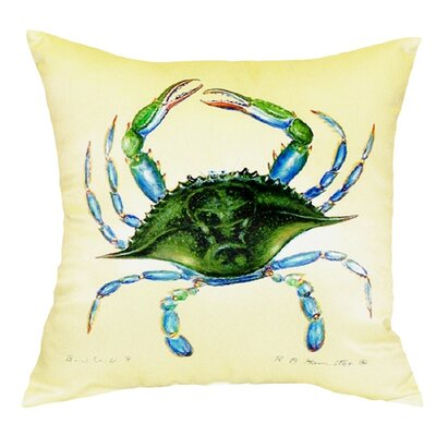 Female Crab Indoor/Outdoor Throw Pillow