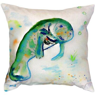 Manatee Indoor/Outdoor Throw Pillow