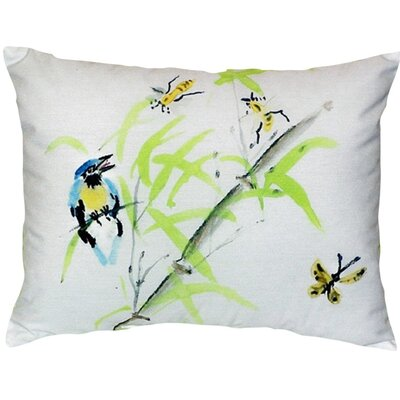 Birds and Bees II Indoor/Outdoor Lumbar Pillow