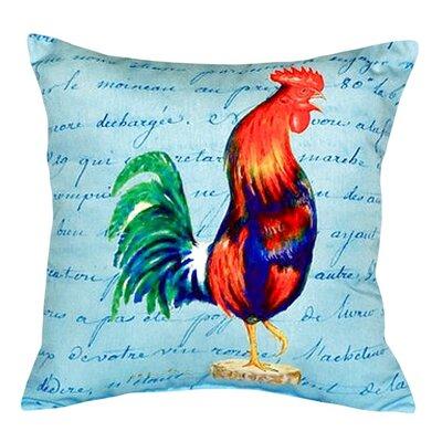 Rooster Script Indoor/Outdoor Throw Pillow
