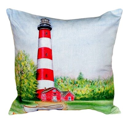 Chincoteague Lighthouse VA Indoor/Outdoor Throw Pillow