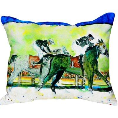 Close Race Indoor/Outdoor Lumbar Pillow