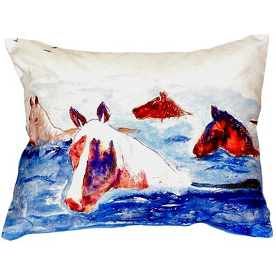 Chincoteague Ponies Indoor/Outdoor Lumbar Pillow