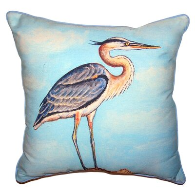 Sevanna Heron on Stump Indoor/Outdoor Throw Pillow Size: 18 x 18