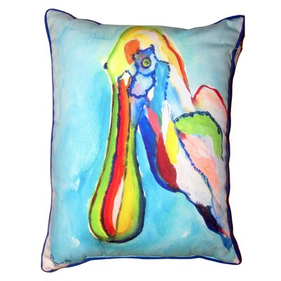 Olmsted Spoonbill Head Indoor/Outdoor Lumbar Pillow Size: 14 x 11